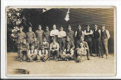 WW1 Photographic Postcard British Soldiers at Camp