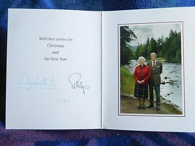 Queen Elizabeth II and Prince Philip - Lovely 2009 Christmas card