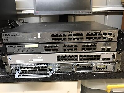 3 Gigabit Switches And Cisco 2811 Router