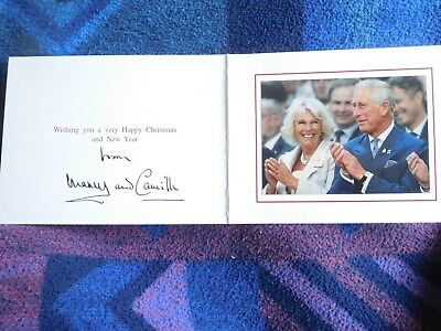 Prince Charles and Camilla- Lovely signed 2014 Christmas card