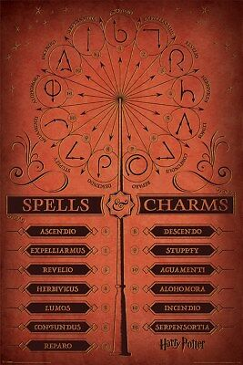 Harry Potter Spells & Charms Maxi Poster 61 x 91,5 cm