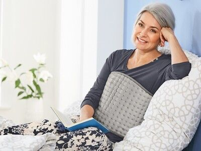 Electric Heating  Pad Stomach & Back with 6 heat settings Grey Colour.