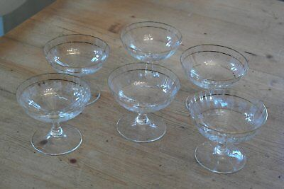 6 Beautiful Vintage Delicate Desert Glasses / Dishes / Champagne ??