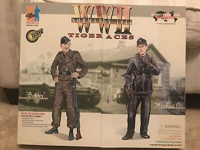 1/6 DRAGON WW2 Tiger Aces Michael Wittmann & Bobby Woll Action Figures New RARE