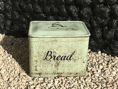 Rare Vintage Pastel Green Bread Bin/Box Believed to be 1910/1920
