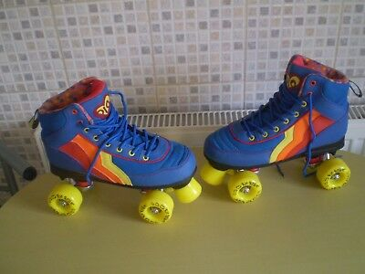 SFR Rio Roller Kids/Adult Blueberry Quad Roller Skates, size 5,Great Condition!!