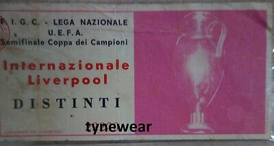 Inter Milan v Liverpool 1965 TICKET European Cup semi final Shankly RARE L@@K!