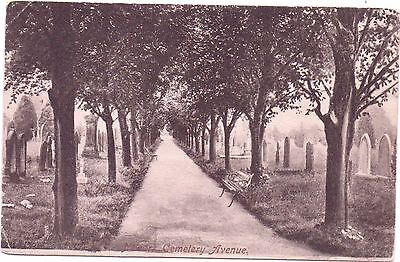 Newark Cemetery Avenue Postcard Postmark Newark 1904 To Miss A Chrismas  Camden