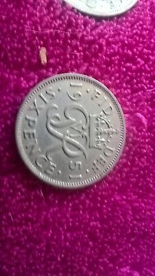 Vintage George Vi Silver Sixpence 1951 - Good Luck Wedding Birthday Etc