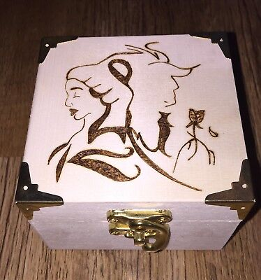 Disney Beauty And The Beast Wooden, Trinket / Jewellery Box, Can Be Personalised