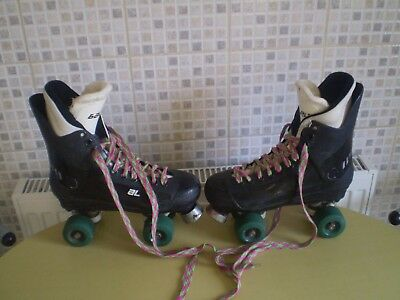 "Bauer ""old School"" Quad Roller Skates Size 5,well Used Condition!!!"