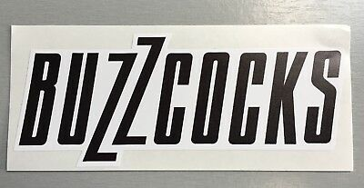 New shaped Vinyl Sticker  buzzcocks new wave punk car iPad 14x5.5cm