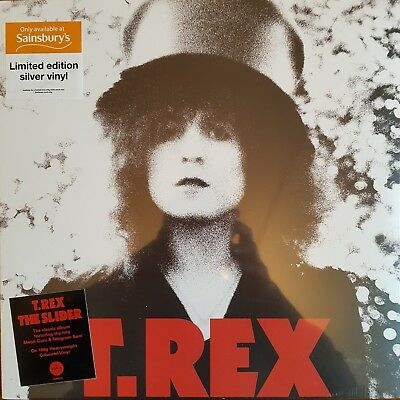 T.Rex The Slider SILVER COLOURED VINYL LP Sainsbury's Exclusive NEW SEALED Bolan
