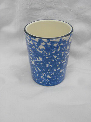 Vintage Stangl Town and Country Blue Spongeware 9 oz. Tumbler
