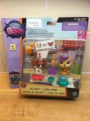 Littlest Pet Shop Pets In The City Pet tales New Sealed Dogs & Accessories (2)