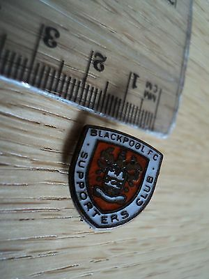 Very Rare Vintage Blackpool Supporters Club Shield Shaped Badge