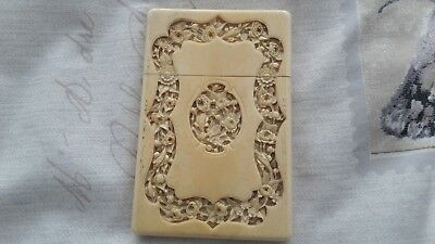 Antique Chinese Carved Card Case, Excellent condition SEE PICTURES
