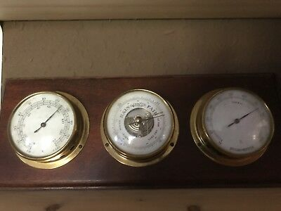 German Wooden Weather Station - Barometer, Hygrometer & Thermometer