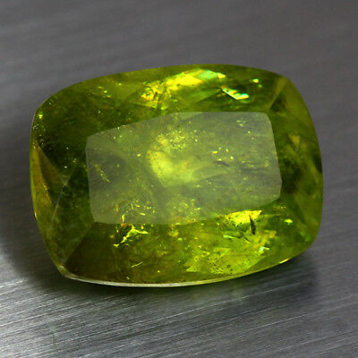 14.91 Cts_Top Electric Fire_100 % Natural Unheated Russian Titanite Green Sphene