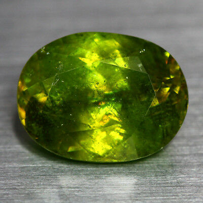 8.53 Cts_Top Electric Fire_100 % Natural Unheated Russian Titanite Green Sphene