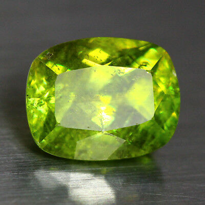 3.55 Cts_Top Electric Fire_100 % Natural Unheated Russian Titanite Green Sphene