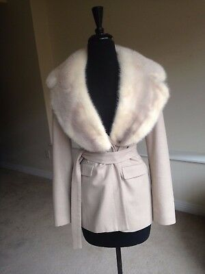 Vintage Hugo Buscati Wool Jacket Huge Mink Collar