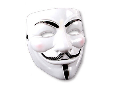 Smartfox Maske V wie Vendetta Anonymous Occupy Guy Fawkes weiss ACTA
