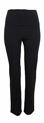 Maternity or Yoga Cotton Over Bump or Foldover Waistband Comfy Trousers