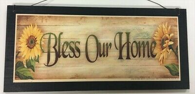 Kitchen Wall Art Sign Bless The Food Family Home Decor Wood Signs