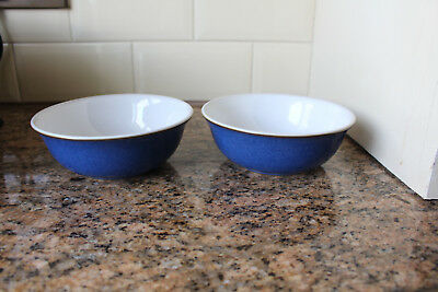 Denby - Imperial Blue - Cereal Bowls X2 - Vgc Condition