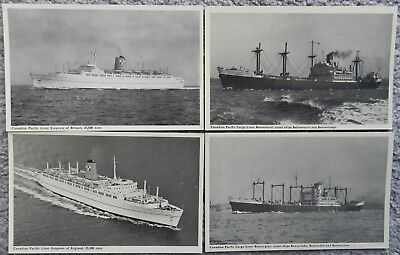 4 x CANADIAN PACIFIC SHIPPING POSTCARD LOT