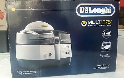 DeLONGHI FH1363 Extra- Healthy Low Oil 1.7kg Fryer & Multicooker Boxed.
