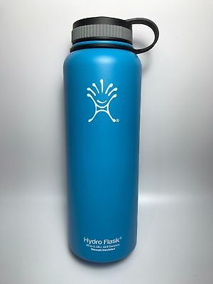 Light blue 40oz Hydro Flask Insulated Stainless Steel Water Bottle Wide Mouth