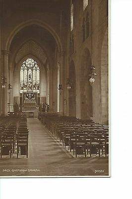 Vintage Judges' Sepia Postcard - Chepstow Church, Monmouthshire -  Posted 1914