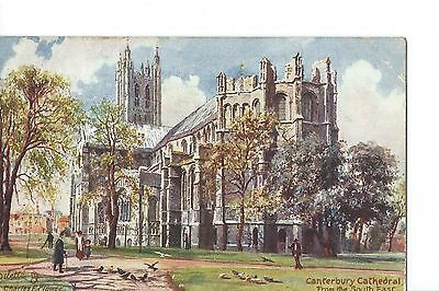 Vintage Tuck's Postcard - Canterbury Cathedral  - Posted London 1905