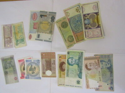 15 Banknotes from ex Soviet states. Various conditions