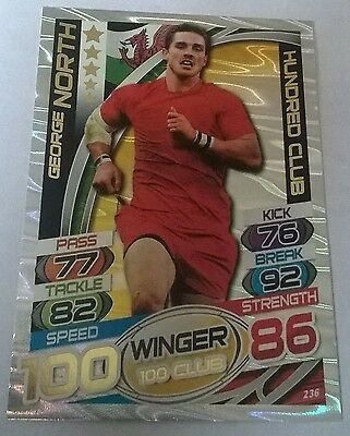 Rugby Attax George North Hundred Club Wales Winger