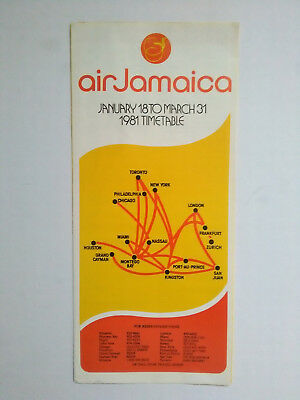 Flugplan Air Jamaica 1981 Timetable Airline