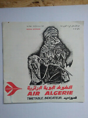 Flugplan Air Algerie 1981 Timetable Airline Domestic issue