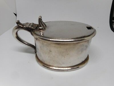 WALKER&HALL CONDIMENT POT-5cms high and 9cms long