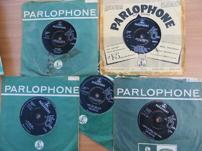 THE BEATLES ~ 5 X 45S - UK PARLOPHONE - Inc. Magical Mystery Tour