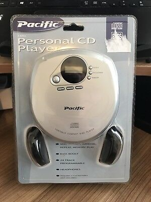 Pacific Silver Portable CD Player With Headphones