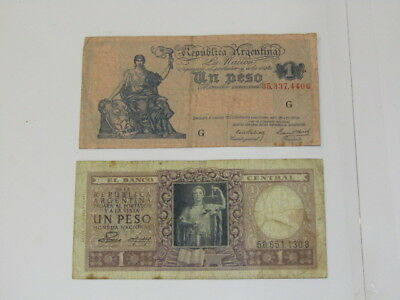 2 Vintage Banknotes from Argentina