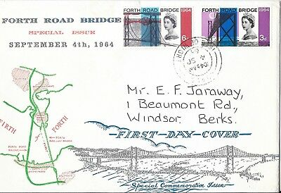 GB 1964 Forth Road Bridge (ord) illustrated FDC with I.O.W H/S