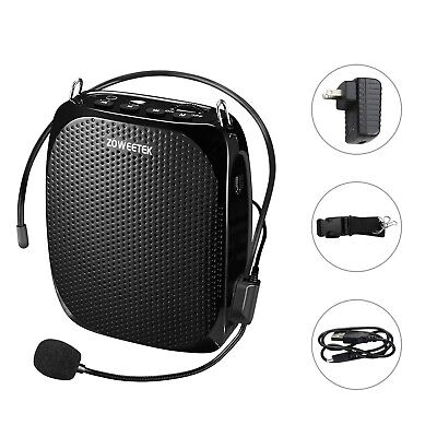 Zoweetek Portable Rechargeable Mini Voice Amplifier With Wired Microphone and...