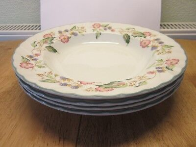 4 x BHS VIctorian Rose Soup or Pasta Bowls - Used in Good Condition
