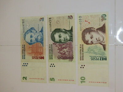 3 Banknotes from Argentina