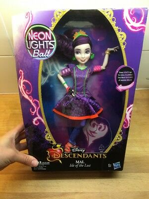 Disney Descendants Mal Isle Of The Lost Neon Lights Ball Doll Light Up Dress 2