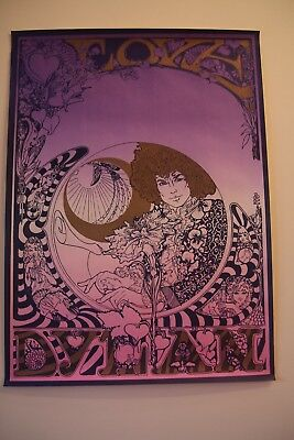 2 PSYCHEDELIC POSTERS CIRCA 1980s BOB DYLAN / MONTEREY POP FESTIVAL