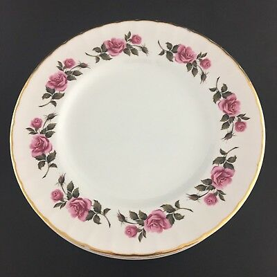 Ridgway Romance Set Of Eight Bread And Butter Plates Staffordshire England